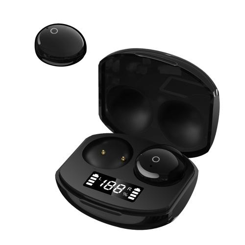 CP9 TWS Bluetooth 5.0ワイヤレスヘッドフォンミニスマートヘッドセットスポーツヘッドフォンマイク付きバッテリーディスプレイピックアップ自動ペアリングイヤフォン