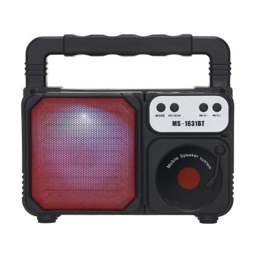 MS-1631BT Portable Enceinte Extérieure Coloré LED Lumière Super Bass Sans Fil Bluetooth Haut-Parleurs FM Radio TF Carte U Disque Lecteur de Musique
