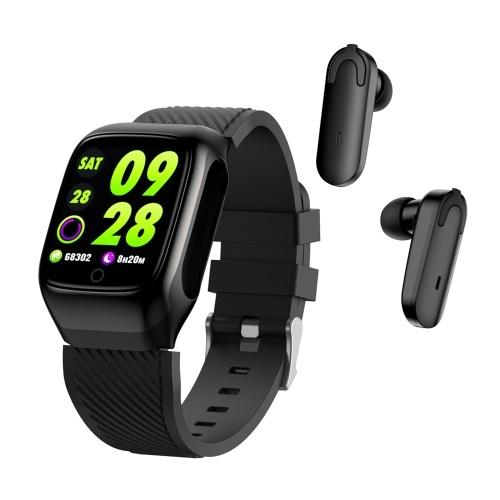 2-in-1 Smart Watch TWS Ohrhörer Fitness Tracker Bluetooth 5.0 Kopfhörer