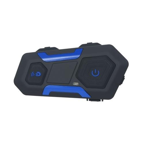 T10S Motorradhelm Bluetooth Intercom Headset 1200M Freisprech-Interphone Helm Headset für 10 Motorradfahrer Vollduplex-FM-Radioempfänger IP56 Wasserdicht