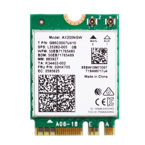 Adaptateur bi-bande sans fil 2400 Mbps WiFi 6 AX200 NGFF M.2 Carte WiFi Bluetooth 5.1 AX200NGW Adaptateur WiFi6 2.4G / 5Ghz 802.11ac / ax