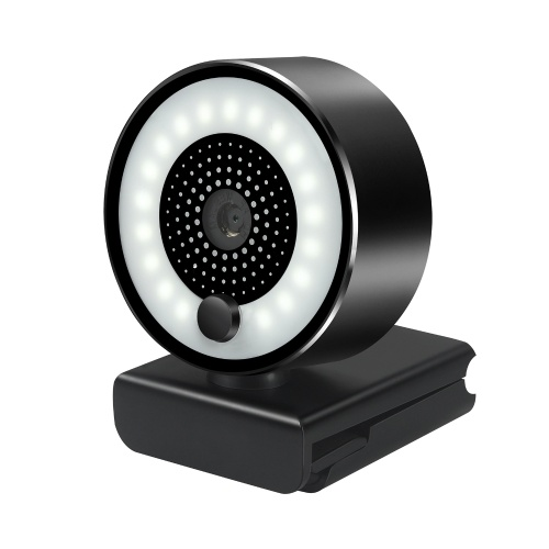HD 2K USB Webcam Autofokus 5MP PC Webkamera 1080P mit Ringfülllichtmikrofon für PC Laptop Videokonferenzkamera