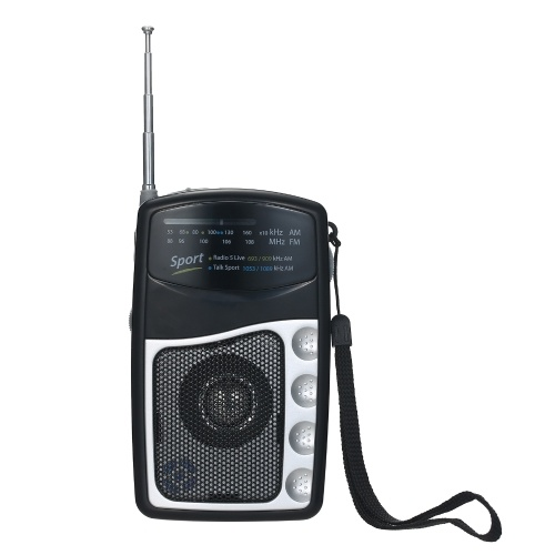 Portable Pocket Radio FM/AM Tuning Radio Receiver Built-in Speaker Telescopic Antenna Clip-on Radio Support Earphone Out