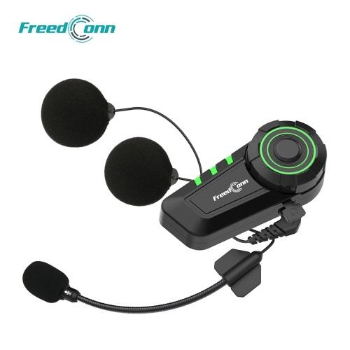 FreedConn KY Motorcycle Helmet Headset Bluetooth 5.0 Motorcycle Headphones Wireless Music Earphone Support FM Radio IP65 Waterproof with Microphone
