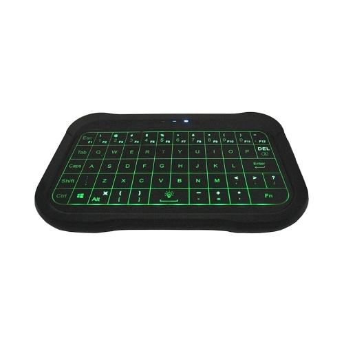 T18 2.4G Mini Wireless Keyboard Backlit Air Mouse with Full Touchpad Smart Remote Control for Android TV Box PC Projector