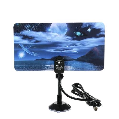w16PH08 Крытый антенны цифрового ТВ 35dBi высокой получить Full HD 1080p VHF / UHF DVB-T-антенна F штекер для DTV / TV