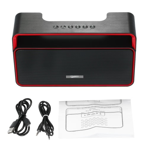MUSKY DY-25 Wireless Stereo Bluetooth Speaker U Disk TF Card 3.5mm FM Radio Subwoofer Hands-free w/ Mic for iPhone 6s 6 Samsung LG Notebook Tablet Other Bluetooth-enabled Devices