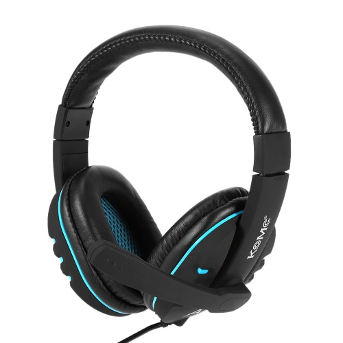 KOMC A7 3.5mm Gaming Headphone Over-ear with Mic Adjustable Headband Headset Stereo Bass for PS PC Computer Laptop Mobile Phone
