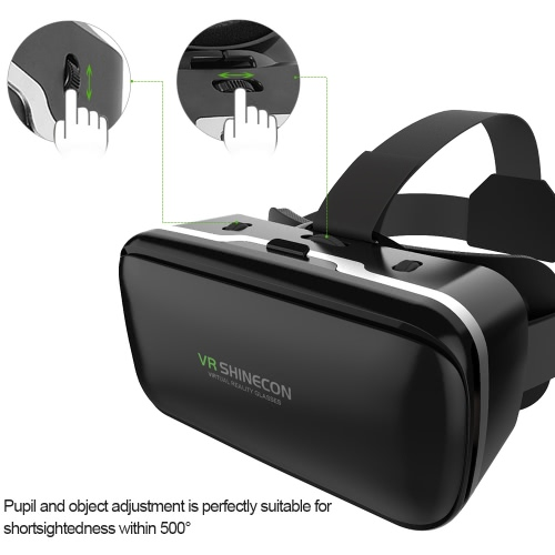 VR SHINECON G-04 Virtual Reality Glasses 3D VR Box Glasses Headset  for Android iOS Windows Smart Phones with 3.5-6.0 Inches