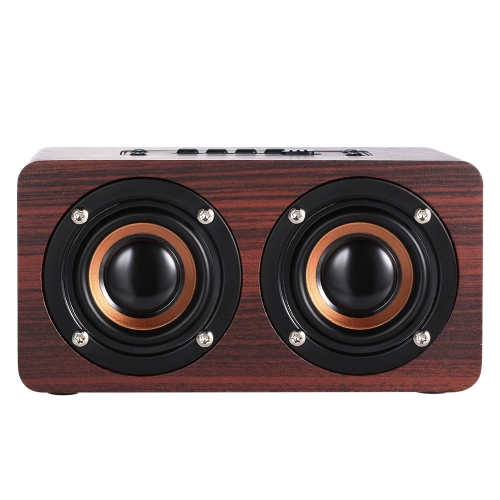 W5 Red Wood Grain Bluetooth Speaker