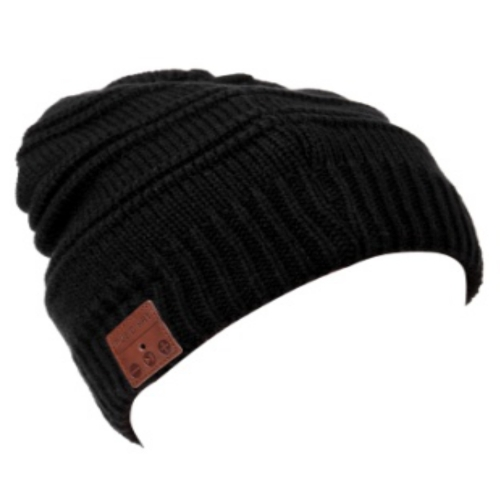 Bonnet d'hiver sans fil BT Beanie Headphone Noir