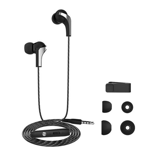 LANGSDOM R29 filaire écouteurs intra-auriculaires Casques de jeu stéréo Casque avec Contôle en ligne et microphone pour iOS téléphones Android