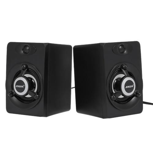 Sada v-118 usb falante com fio led computador speaker bass estéreo música player subwoofer caixa de som para desktop laptop notebook tablet pc telefone inteligente
