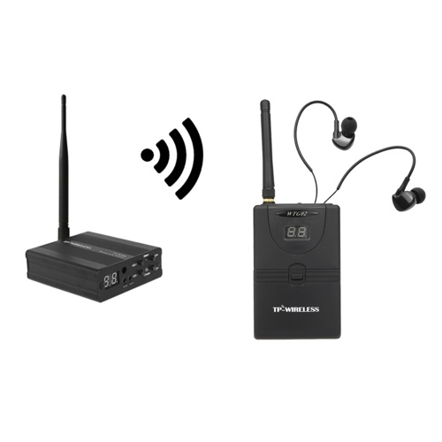 TP-WIRELESS TP-WMS02 In-Ear-Stage-Audio-Monitorsystem Professionelles digitales 2,4-GHz-Digital-Wireless-Monitor-System 1 Sender 1 Empfänger