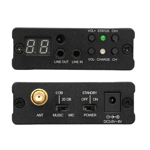 TP-WIRELESS TP-WMS02 In-ear Stage Audio Monitor System Professional 2.4GHz Digital Wireless Monitor System 1 Transmitter 1 Receiver