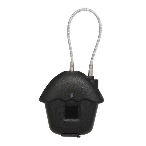 HK-03 Padlock Fingerprint Lock Smart Biometric Lock IP54 Waterproof 2580 Switch Lock Times for Gym Door Luggage Suitcase Backpack Bike Office