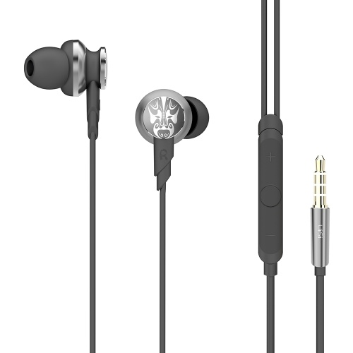 UiiSii Hi805 In-Ear Earphones Bass HiFi DJ Stereo Headphones Sport Headset 3.5mm Wired with Mic for iphone Xiaomi PC Android
