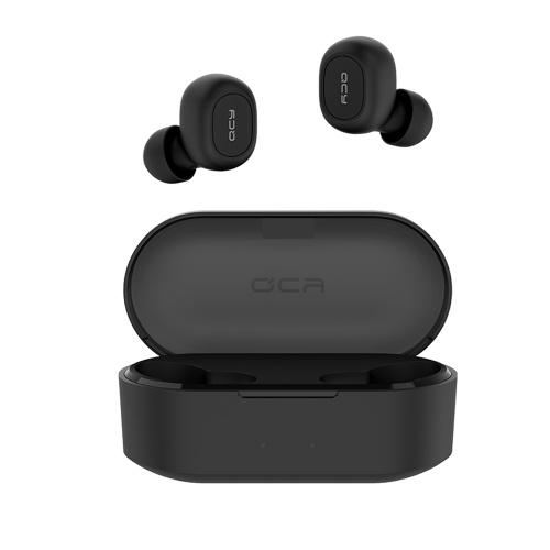 QCY T2S Bluetooth 5.0 TWS Earbuds True Wireless Headphones CVC6.0 Noise Cancellation with Dual Mic In-ear Stereo Earphones Twins Sports Headset with Wireless Charging Case