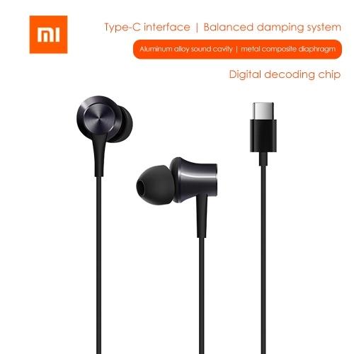 Xiao-mi Typ-C-Kabelkolben-Kopfhörer HSEJ04WM Stereo-Sport-Headset Ohrstöpsel Line Control Gaming-Ohrhörer
