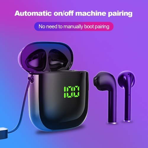 TWS Earphone BT 5.0 Touching Headset Sports Digital Display Headphone Support Wireless Charging
