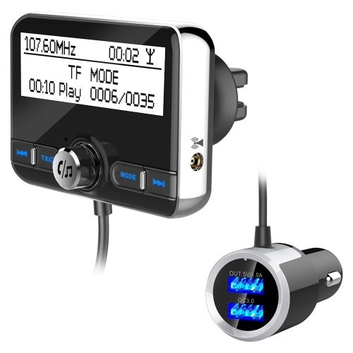 DAB002 DAB Digital Radio Receiver BT4.2 FM Transmitter LCD Display USB Charger for Car (Only for Countries that have DAB Signal)