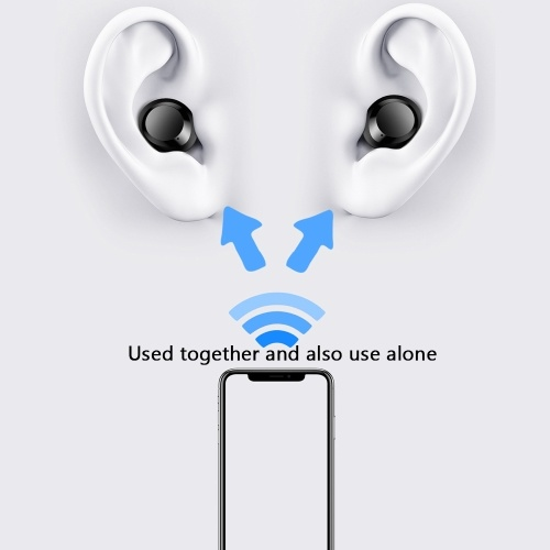 C8S TWS 5.0 BT Headphone 3D Stereo Wireless Earphone Waterproof Noise Reduction Headset