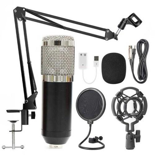 BM800 Professional Suspension Microphone Kit Live Broadcasting Recording Condenser Microphone Set
