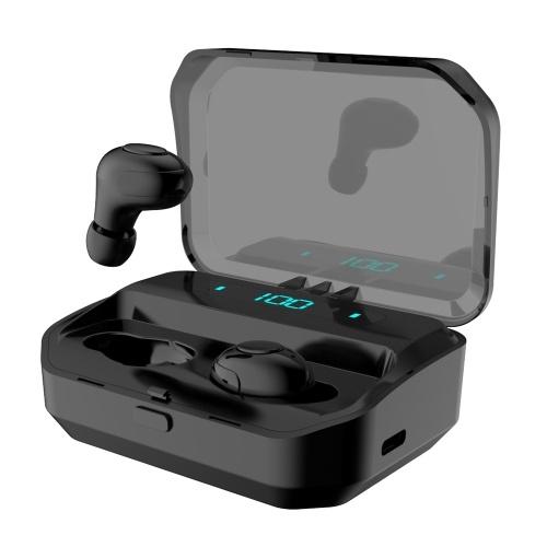 G12 TWS Earbuds Wireless Stereo Sound Earphones Bluetooth5.0 + EDR Redução de ruído no fone de ouvido esportivo com caixa de carregamento LED Display da bateria