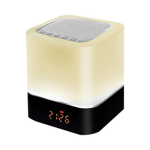 Led BT Haut-Parleur Multifonctionnel Toucher Veilleuse Intelligent Lampe de Bureau Réveil Lecteur de Musique