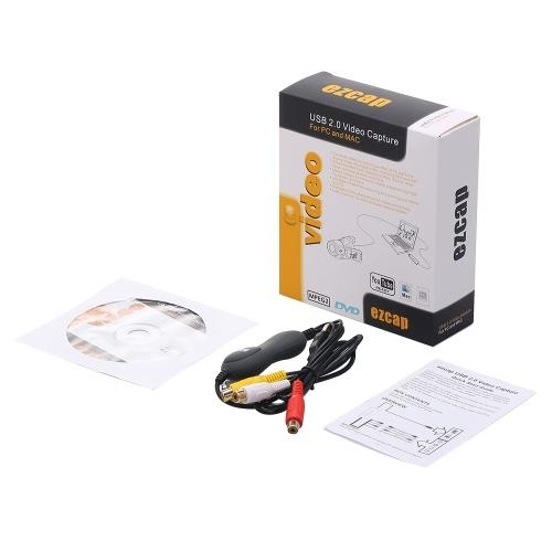 ezcap159 USB2.0 Video Capture Video Converter Konvertiert analoges Video-Audio in digitales Format Kompatibel mit Windows MAC OS