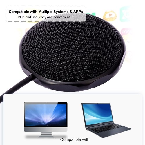 USB Condenser Microphone Computer Microphone for Pod-casting Recording Voice-overs Interviews Conference Calls, TOMTOP  - buy with discount