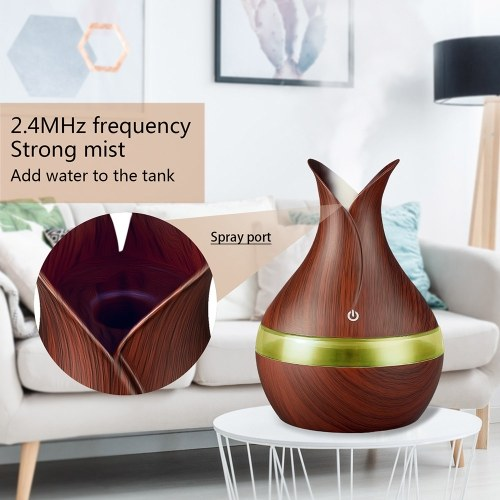 300ml Air Humidifier USB Air Diffuser Essential Oil Aromatherapy Machine with Seven-color Light for Home Bedroom Office