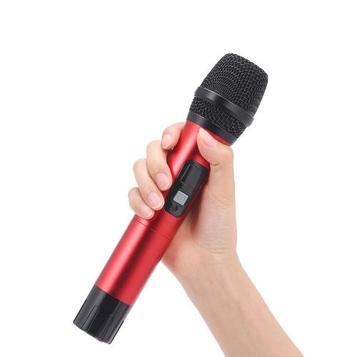 Ручной УВЧ Беспроводной Микрофон 6.35 мм Приемник Анти-помех Беспроводной Микрофон Открытый Производительность Микрофон Конференция Караоке Микрофон фото