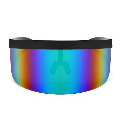 Mezza maschera per il viso Occhiali di protezione solare Occhiali da sole a specchio grande Mezza protezione per il viso Protezione per occhiali Occhiali da sole per sport all'aria aperta UV
