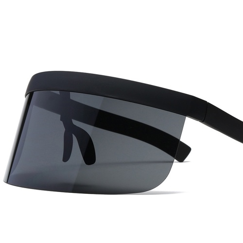 Écran facial Visière Lunettes de soleil Oversize Safety Face Cover Half Face Protective Visor Lunettes de protection solaire Grand miroir UV Outdoor Sunglasses
