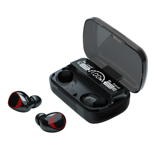 TWS Wirelessly BT5.1 Fones de ouvido intra-auriculares duplos com caixa de carga de 2000mAh Fones de ouvido esportivos portáteis LEDs Power Display Redução de ruído compatível com IOS / Android