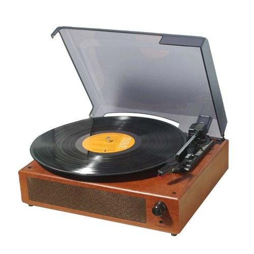 Reprodutor de discos retro 33/45 / 78RPM Gramofone USB Disco giratório Gramofones domésticos portáteis Ferramenta de decoração doméstica