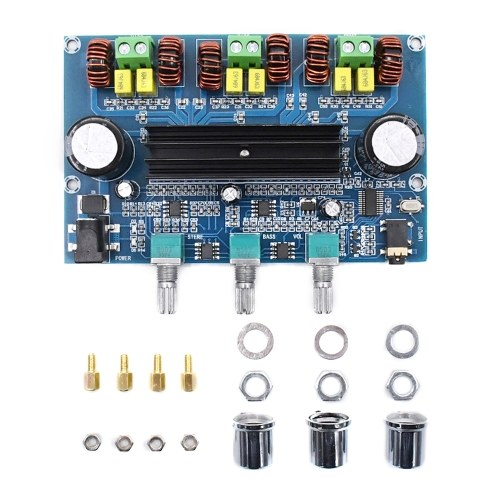 XH-A305 Bluetooth 5.0 Stereo-Digital-Leistungsverstärkerplatine TPA3116D2 50 Wx2 + 100 W 2,1-Kanal-Audio-Bass-Subwoofer AUX AMP-Modul