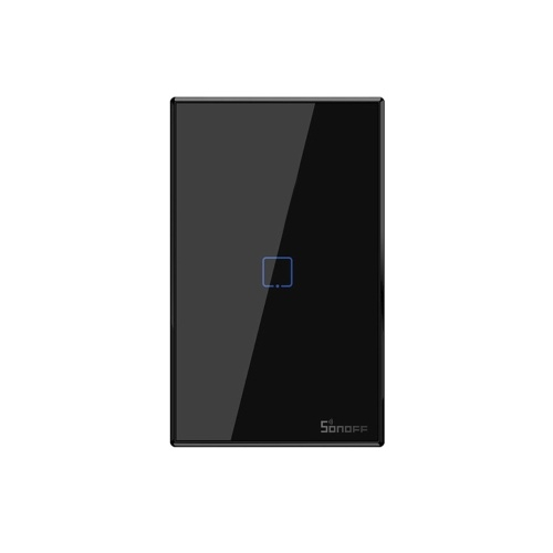 SONOFF T3US1C-TX Interruptor de luz de parede Wi-Fi inteligente de 1 turma 433 MHz RF APP de controle remoto / Temporizador de controle de toque Interruptor inteligente de painel padrão dos EUA compatível com Google Home / Nest e Alexa
