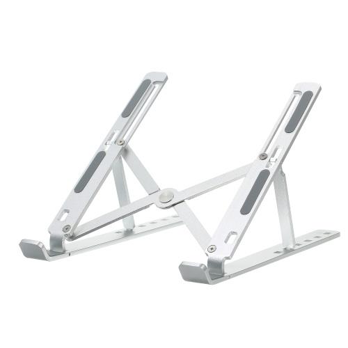 Tischklappbarer Laptopständer 6 Stufen Verstellbarer Laptop Riser Aluminiumlegierung Tragbarer belüfteter Kühl-Laptopständer