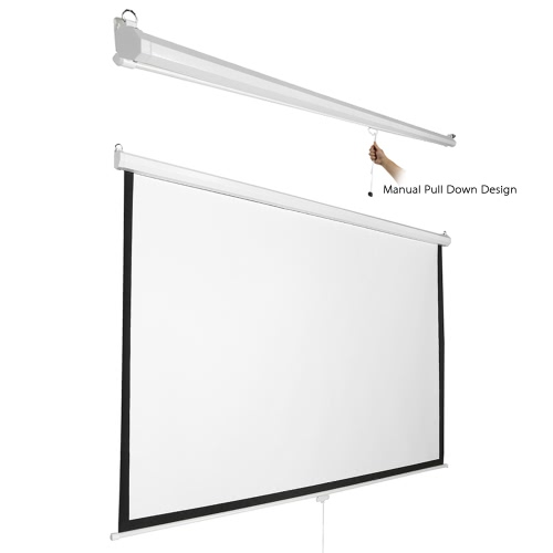 120 polegadas HD projeção manual de tela Pull Down 120Inch Diagonal Rácio de aspecto 4: 3 Tela de projeção