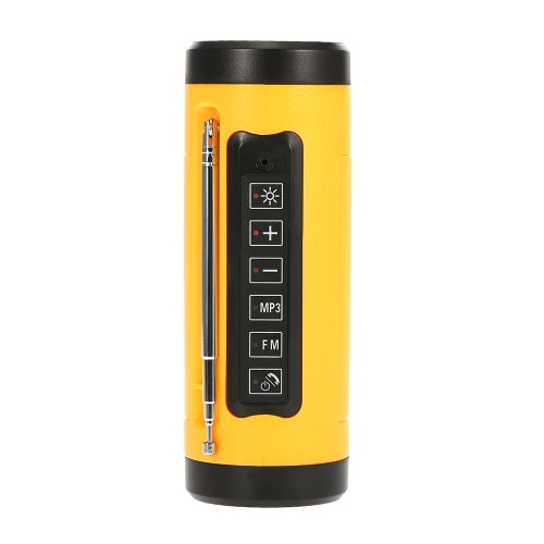 A12 Wireless Bluetooth Outdoor Speaker Portable Power Bank Flashlight IPX5 Waterproof FM MP3 USB AUX-IN Hands-free for Bicycle Smart Phones