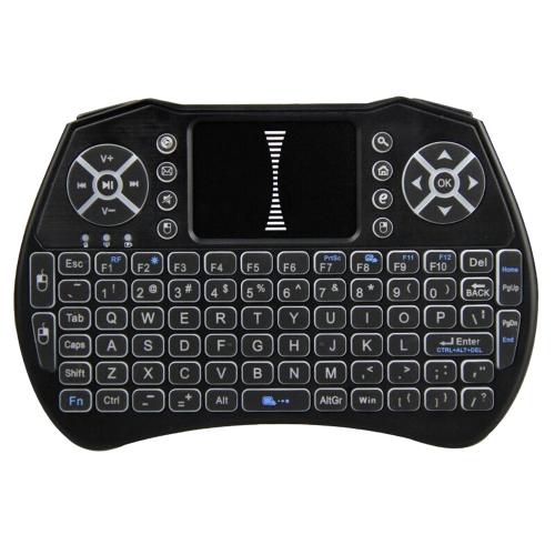 С задней подсветкой 2,4 ГГц беспроводная клавиатура мышь воздуха Сенсорная панель Ручной Подсветка Пульт дистанционного управления для Android TV BOX Smart TV PC Notebook