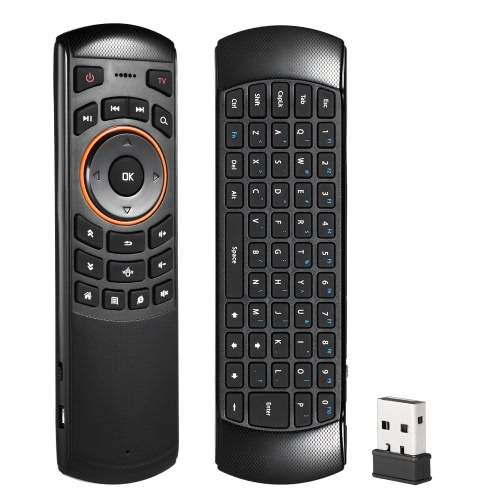 6 Gxes Gyroskop Mini 2.4GHz Wireless QWERTY Tastatur Air Mouse