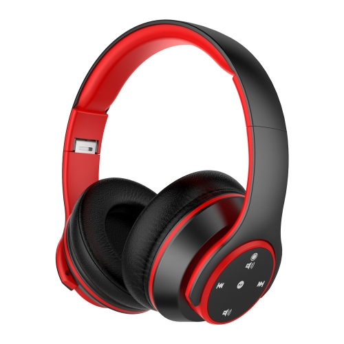 Casque Bluetooth OY5Plus + Lecteur MP3 Rouge