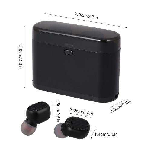 TWS Erabuds Sem Fio Bluetooth 5.0 Fones De Ouvido com Microfone De Carregamento Caso Verdadeiro Sem Fio Fones De Ouvido Estéreo Suporte Único Fone De Trabalho Trabalhando Automaticamente Automaticamente