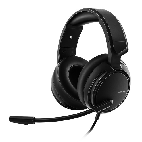 NUBWO N12 Gaming Headphones for PC Laptop with Mic Noise Cancelling 3.5mm AUX Volume Control Over-ear Headset Soft Comfortable Earmuff Adjustable Headband