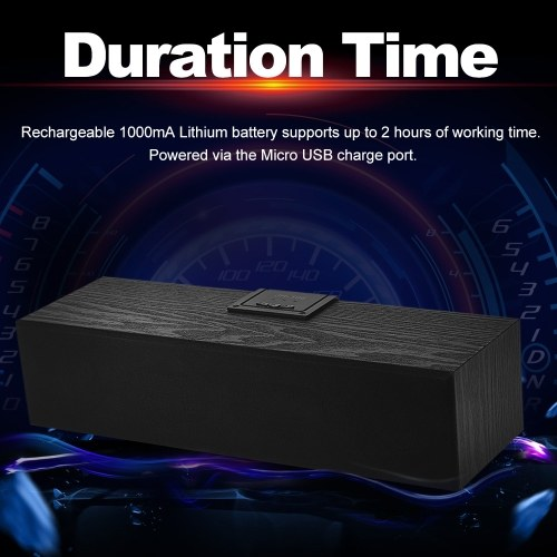 JH-106 Wireless Bluetooth Speakers Wooden Soundbox Stereo Bass Subwoofer AUX IN FM Radio Support TF Card U Drive for Smart Phone PC V5932