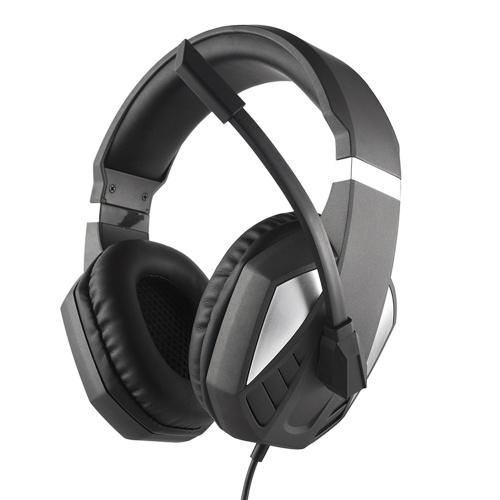 3,5 мм проводные игровые наушники на ухо игровая гарнитура наушники с шумоподавлением с регулятором громкости микрофона для ноутбука PC PS4