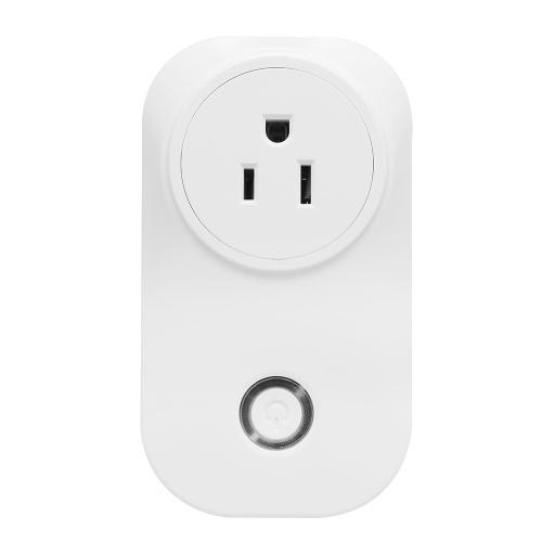 Image de Prise de commande vocale Prise de commande vocale Smart Home Socket Compatible avec Amazon Echo et pour Google Home Application de fonction de synchronisation Tmall Elf IFTTT Télécommande depuis n'importe où 16A